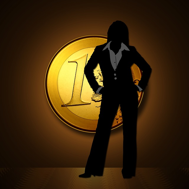 jedno euro, silueta ženy